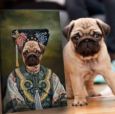 Image of empress dog painting