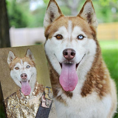 Image of queen dog portrait
