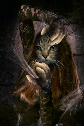 Image of conjure cat painting arts