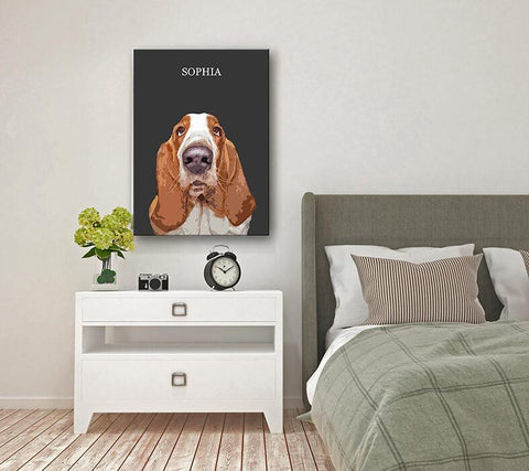 custom dog wall art painting