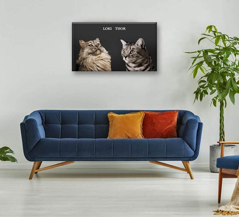Image of custom cat wall portrait