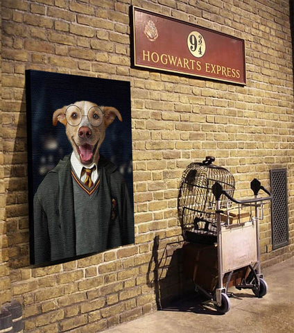 Image of harry potter pet dog portraits wall canvas art