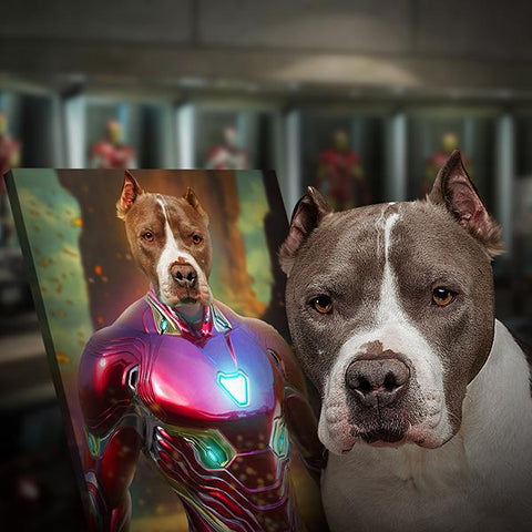 Image of Ironman dog paintings