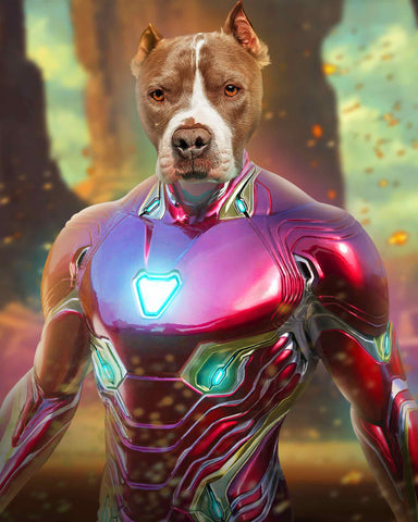 Image of Ironman portrait dog art