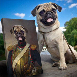 Lord Benedict dog portrait print