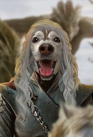 Daenerys-Pet // Custom Pet Portrait