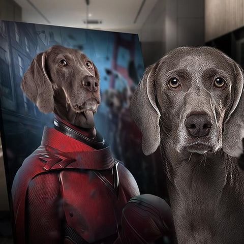 Magneto dog painting print