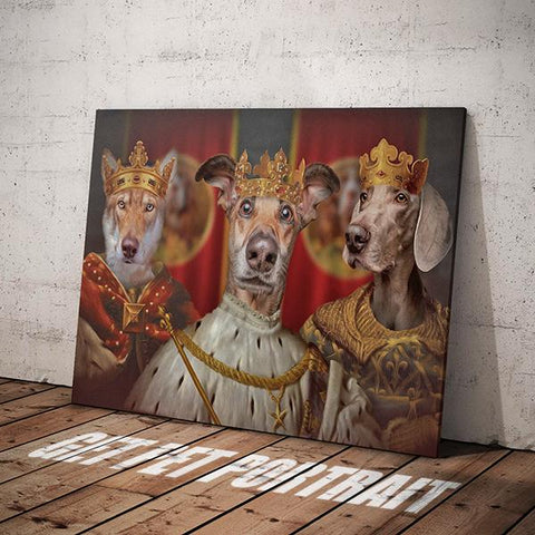 Image of king dog canvas art