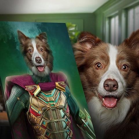 Mysterio Pet // Custom Pet Portrait