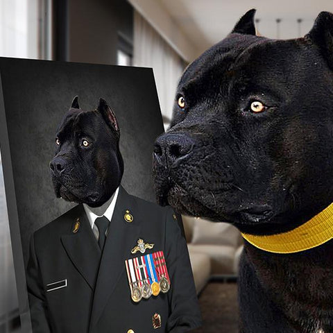 Image of Navy dog painting portrait