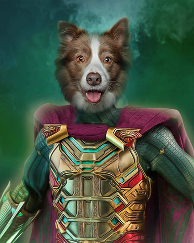 Mysterio dog painting canvas art