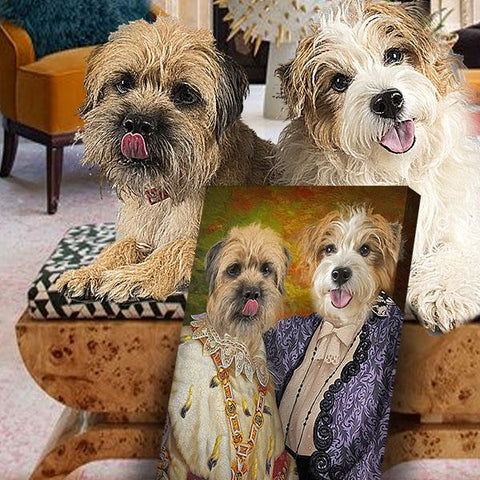 Image of Pet Sisters // Custom Pet Portrait