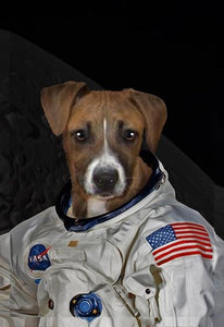 astronaut dog canvas art