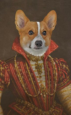 Image of bavarian princess dog portrait
