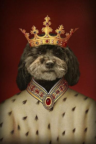 Good to be the King // Custom Pet Portrait - GetPetPortrait
