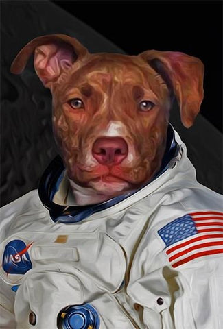 astronaut art dogs