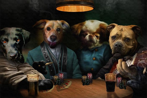 cute dog poker portrait