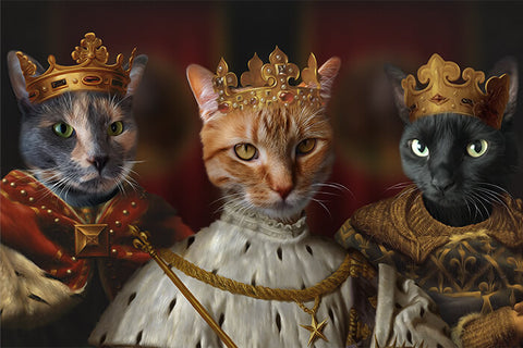 Image of Trio Kings // Custom Pet Portrait