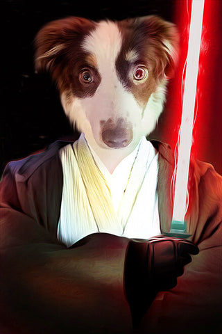 Image of jedi dog portrait