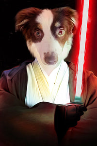 jedi dog portrait