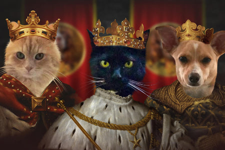 Trio Kings // Custom Pet Portrait