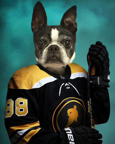 Hockey Pet-Player // Custom Pet Portrait