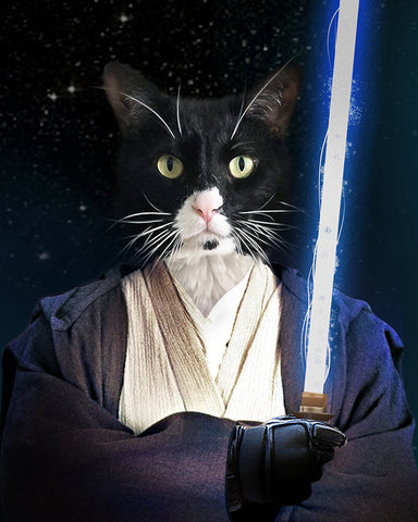 Image of jedi cat portrait
