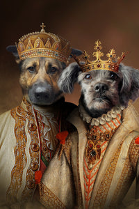Royalty-Couple// Custom Pet Portrait