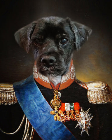 Duke Pet-Bourbon // Custom Pet Portrait