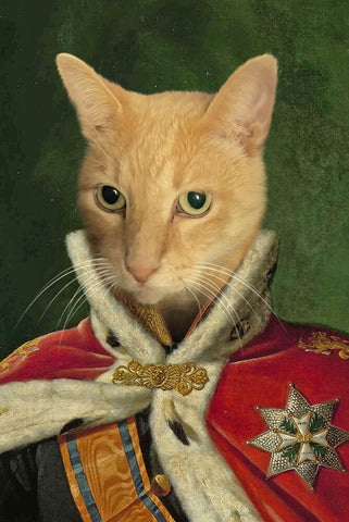 Image of King William-Pet // Custom Pet Portrait