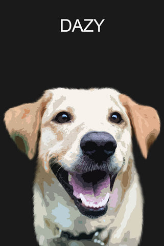 Custom portrait single pet - Dark background