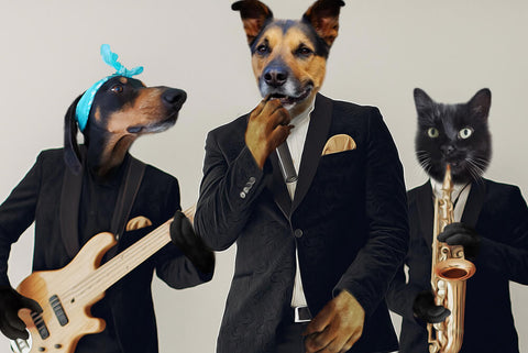 Classic-Pet-Band // Custom Pet Portrait