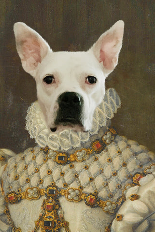 Image of Queen Elisa-Pet // Custom Pet Portrait