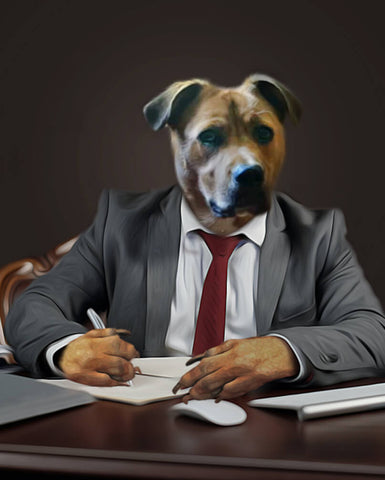 Image of Business-Pet // Custom Pet Portrait