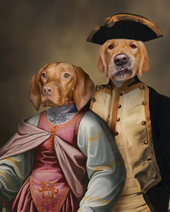 Pet-Couple// Custom Pet Portrait