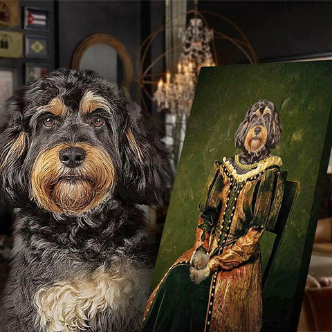 Princess dog portrait print