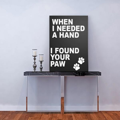 Image of When I needed a hand, I found your paw amazing paintings