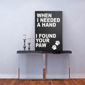 When I needed a hand, I found your paw amazing paintings