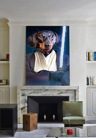 Image of Jedi Pet // Custom Pet Portrait