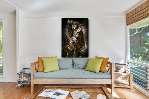Image of conjure cat wall painting portrait