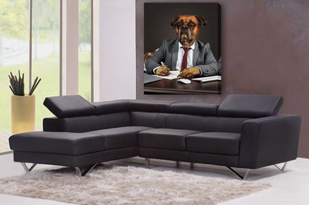 business dog wall art