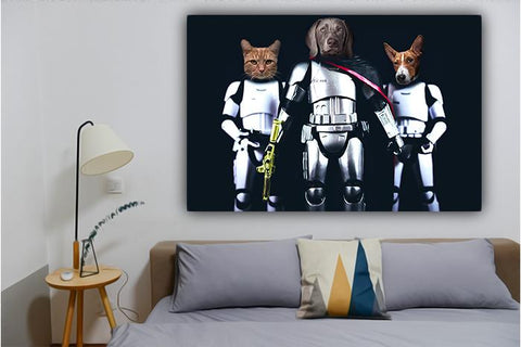 starwars pet wall art portrait