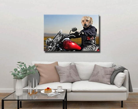 Image of Biker dog painting