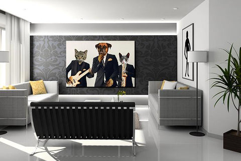 pet band wall art canvas