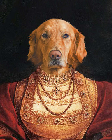 Image of royal dog portrait