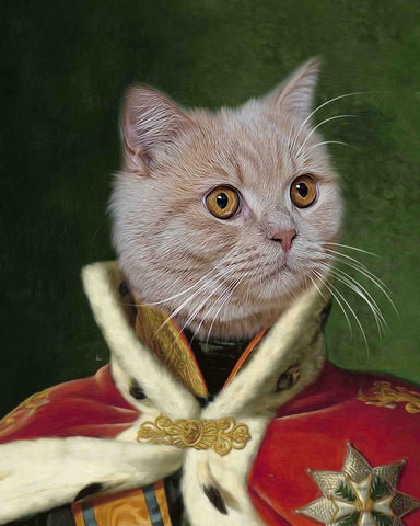 Image of King William cat art painting portrait