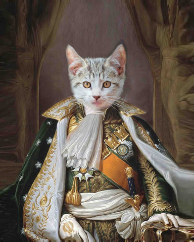 Image of Napoleon Bonaparte cat art painting