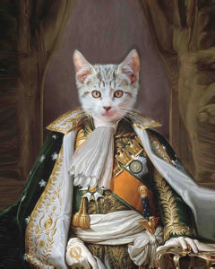 Napoleon Bonaparte cat art painting