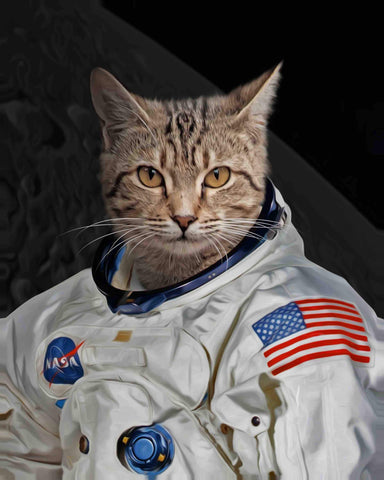 Image of astronaut cat portrait