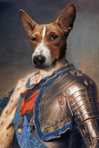 King Louis dog print canvas painting